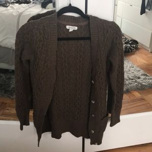Brown aeropostale xs cardigan